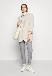 Carin Wester - TROUSERS FARIN - Trousers - grey melange - 2