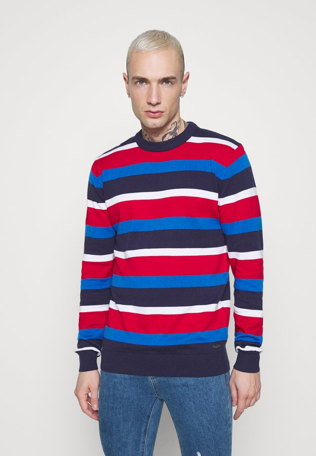 SONNIE - Maglione - french navy/white/red/cobalt
