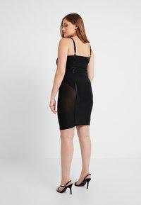 Good American - SHEER CONTOUR DRESS - Cocktail dress / Party dress - black - 6