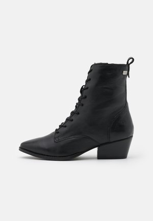 BAVIERA - Lace-up ankle boots - new black
