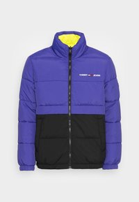 Tommy Jeans - REVERSIBLE PUFFER JACKET - Talvejope - court blue/multi - 4