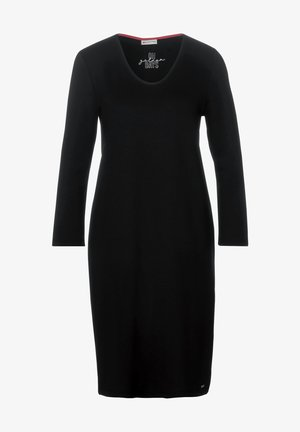 MIT TAPE-DETAIL - Jersey dress - schwarz