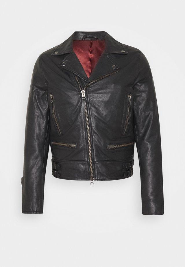 CHYLO - Kožená bunda - black