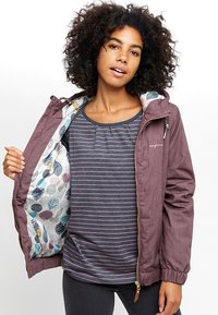 Mazine - LIBRARY - Winter jacket - berry melange - 3