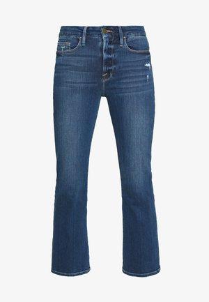LE CROP - Jeans bootcut - blue denim
