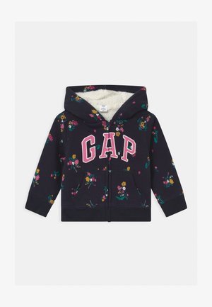 TODDLER GIRL LOGO - veste en sweat zippée - navy
