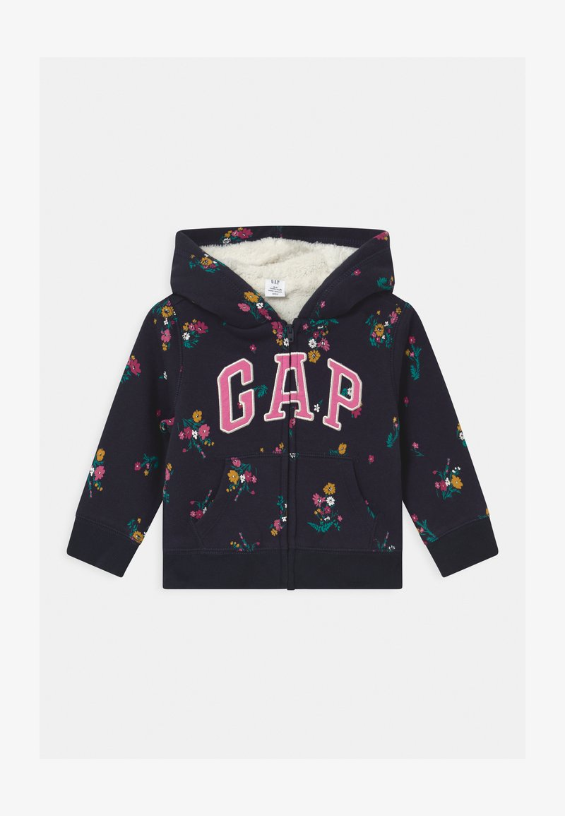 GAP - TODDLER GIRL LOGO - Zip-up hoodie - navy