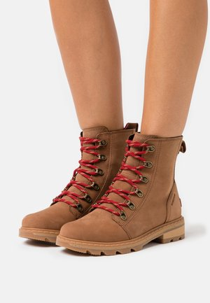 LENNOX LACE - Lace-up ankle boots - cognac