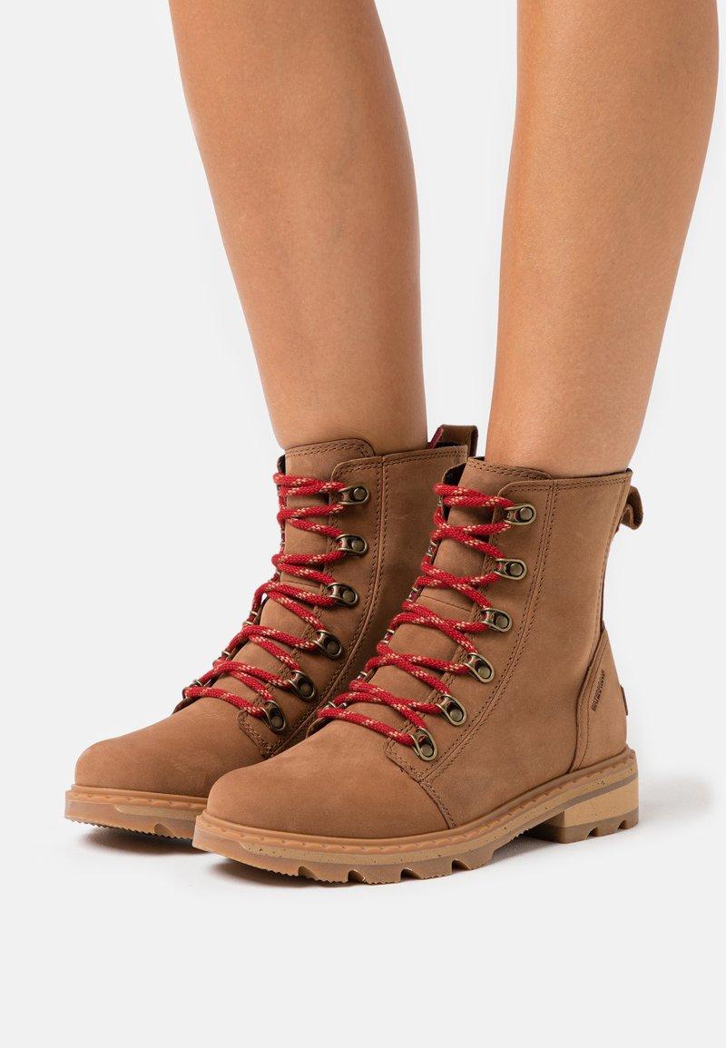 Sorel - LENNOX LACE - Lace-up ankle boots - cognac