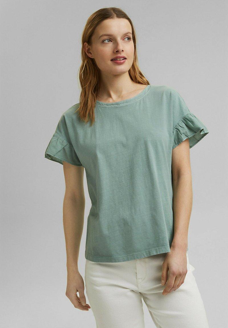 Esprit - WASH TEE - Print T-shirt - turquoise