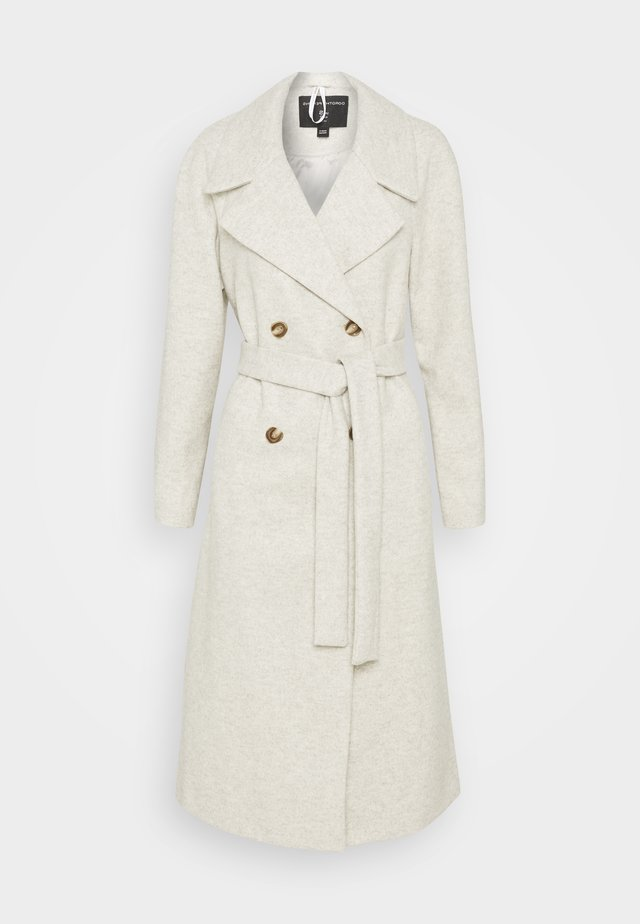 DOUBLE BREASTED MAXI WRAP COAT - Mantel - ivory
