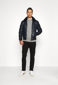 Serge Pariente - TAYLOR - Leather jacket - navy - 1