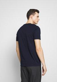 Benetton - BASIC VNECK - T-shirts basic - darkblue - 2