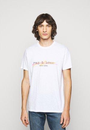 HIGHLIGHTER TEE - T-shirt med print - white