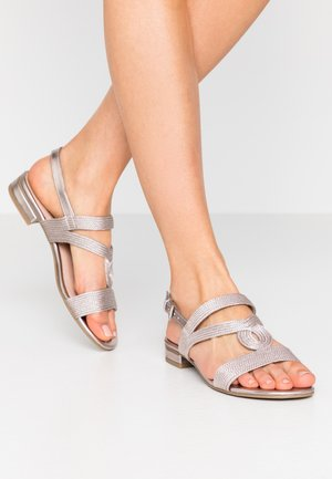 Sandals - rose metallic