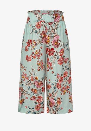 MIT PRINT - Shorts - grün
