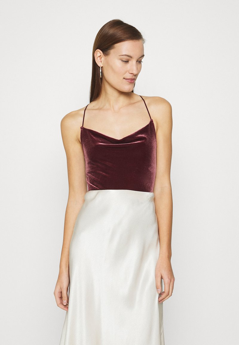 Abercrombie & Fitch - COZY CHASE - Top - burgundy