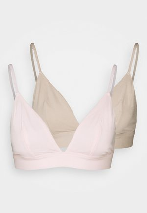 LILA 2 PACK - Triangel BH - pink/nude