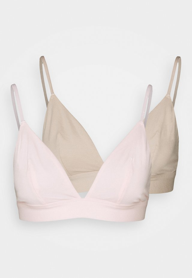 LILA 2 PACK - Triangel-bh - pink/nude