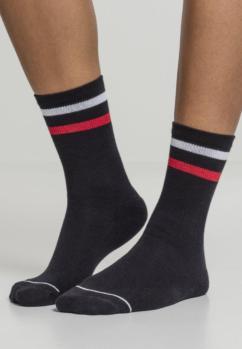 Urban Classics - 2 PACK - Socks - black white red