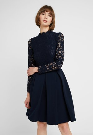 LONG SLEEVES - Vestido de cóctel - navy blue