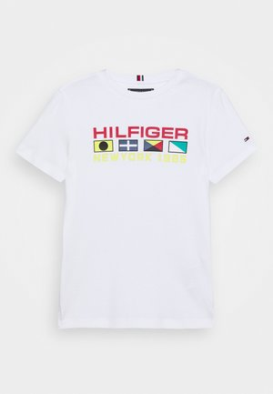 FLAG SAILING TEE - Camiseta estampada - white