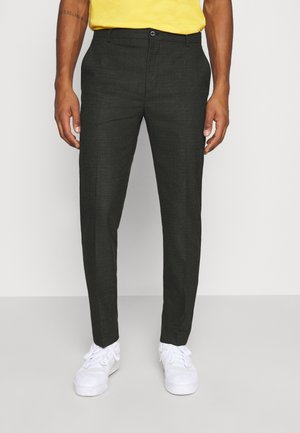 CHECK STRETCH PANTS - Pantalones - grey