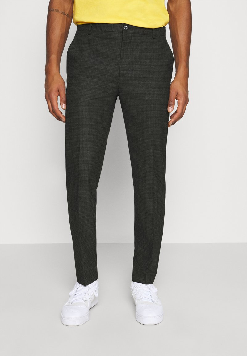 Calvin Klein Tailored - CHECK STRETCH PANTS - Kalhoty - grey