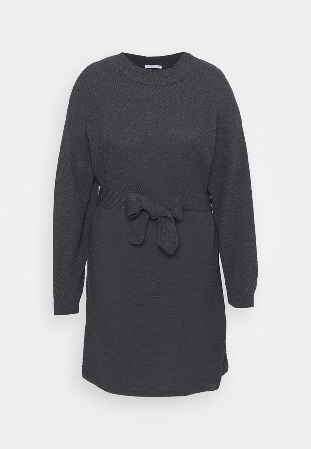 BELTED DRESS - Jumper dress - gunpowdergrey