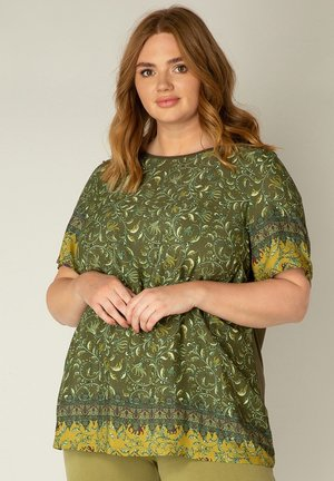 Print T-shirt - army/multi color
