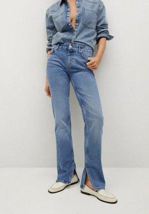 DROIT OUVERTURE - Straight leg jeans - bleu moyen