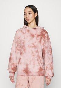 Topshop - TIE DYE HOODY - Sweatshirt - pink - 0