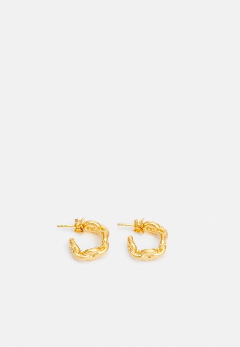 Julie Sandlau - LINK CHAIN MINIHOOPS - Øreringe - gold-coloured