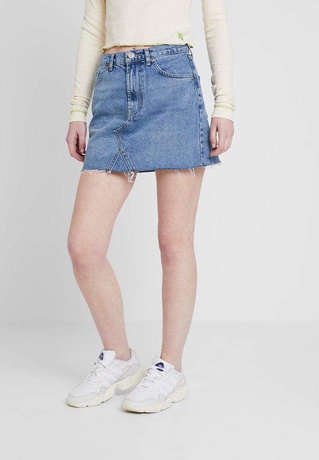 AUSTIN SKIRT - Spódnica trapezowa - blue denim