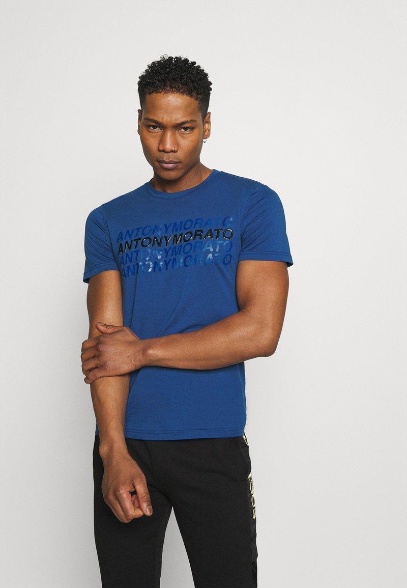 Antony Morato - SLIM FIT WITH LOGO - Camiseta estampada - cobalto scuro