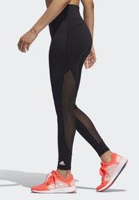 adidas Performance - BELIEVE THIS  -STRIPES MESH LONG LEGGINGS - Medias - black - 3