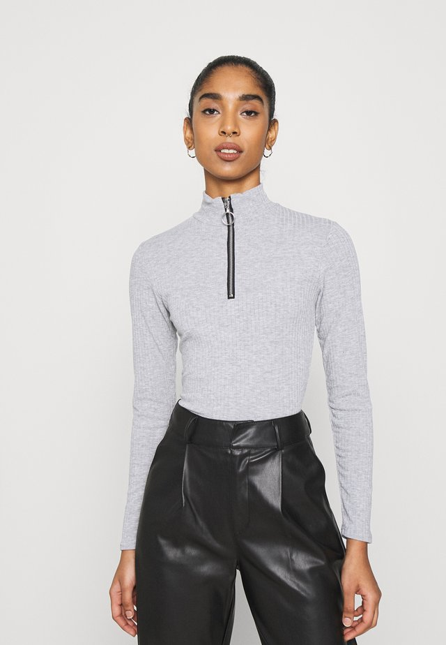 ZIP BODY - Long sleeved top - grey niu