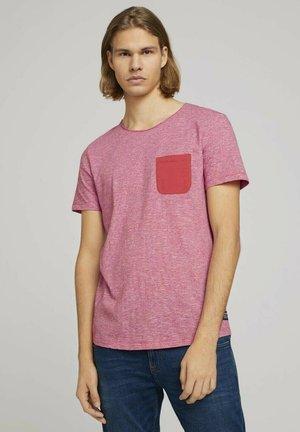 Print T-shirt - normal red yd mini stripe
