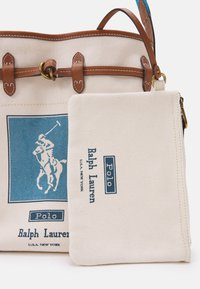 Polo Ralph Lauren - POLO PRINTED SET - Handbag - ecru/blue - 3