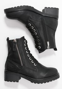 TOM TAILOR - Lace-up ankle boots - black - 3