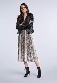 SET - A-line skirt - light stone grey - 1