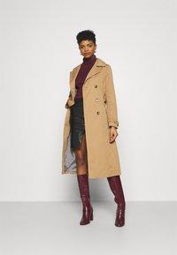 New Look - ROLL NECK - Long sleeved top - dark burgundy - 1