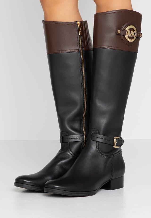 STOCKARD BOOT CONTRAST LOGO - Vysoká obuv - black/mocha