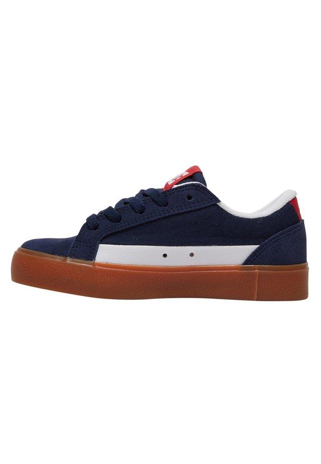 Sneakers laag - navy/red