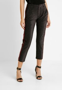 Scotch & Soda - TAPERED PANTS WITH SIDE PANEL - Kalhoty - black - 0