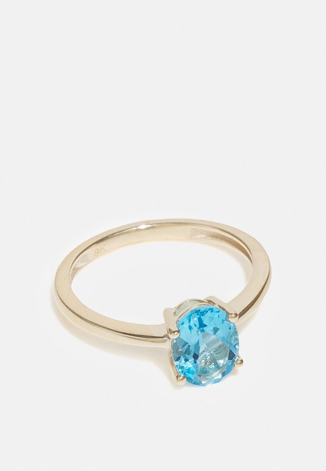 NATURAL DIAMOND RING CARAT BLUE CRYSTAL SOLITAIRE DIAMOND RINGS KT DIAMOND JEWELLERY GIFTS FOR WOMENS - Sormus - gold
