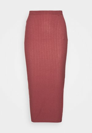 MIDI SKIRT - Pencil skirt - red