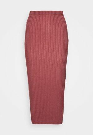 MIDI SKIRT - Pouzdrová sukně - red
