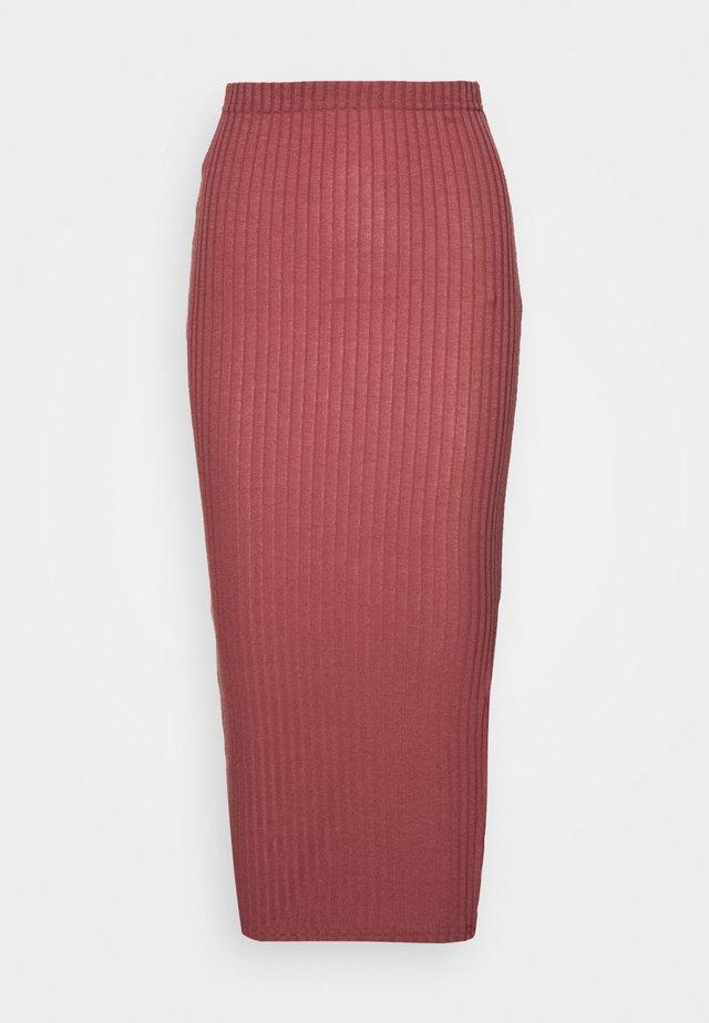 MIDI SKIRT - Pencil skirt - red