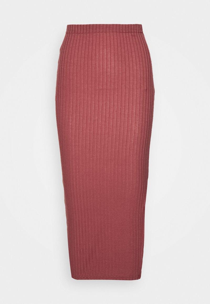 Missguided Tall - MIDI SKIRT - Pencil skirt - red